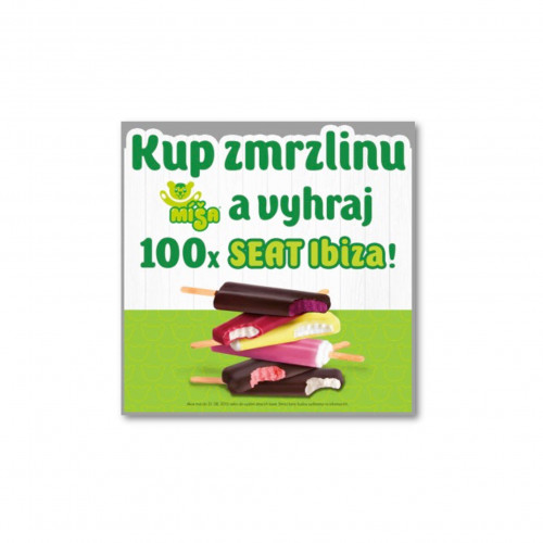 Zmrzlina Míša banner - Kup zmrzlinu a vyhraj