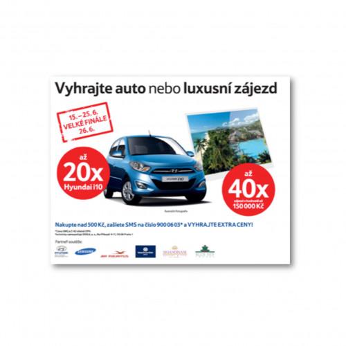 Tesco - banner - Vyhrajte auto nebo luxusní zájezd
