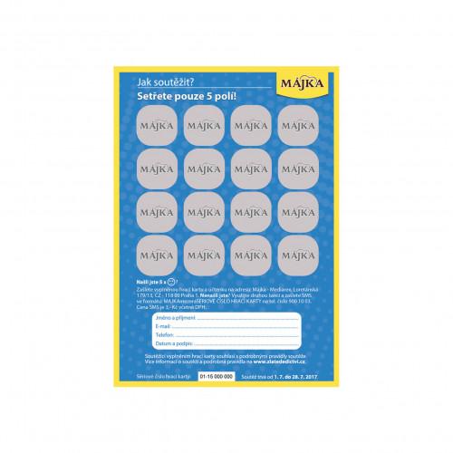 Májka hrací karta zadní strana